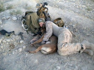 Soldier and malinois